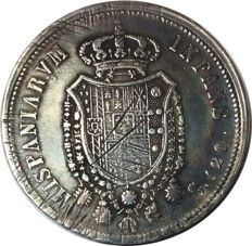 Kingdom of Naples - Ferdinand I of Bourbon - 120 grana piastra 1805 - silver