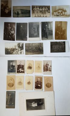 23 CVDs and photo cards of German and French soldiers - 1880/1920