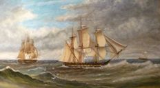 Unknown artist - A clipper ship under sail