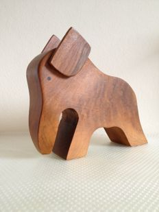 in the style of Hoffritz – Mid Century Teak Elephant