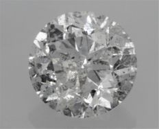 2.18 carat - F color - SI2 clarity - Round Brilliant Cut  -  Comes With AIG Certificate + Laser Inscription On Girdle
