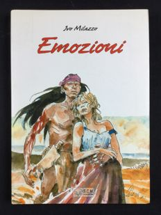 "Milazzo, Ivo - hardcover volume ""Emozioni"" with dust jacket"