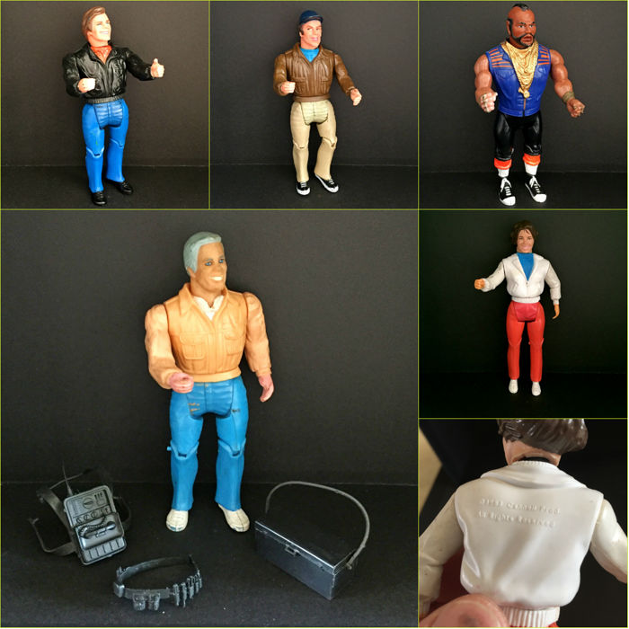 The complete Galoob A-Team action figures 1984 _very rare!_