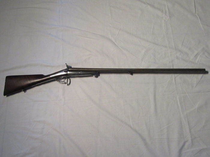 """Nice rifle signed on platinum by the gunsmith: """"PRADAL ARQUEBUSIER A TOULOUSE"""""""