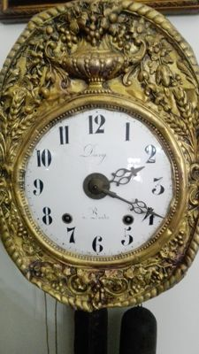 Comtoise wall clock by Davy a Lonts, period: 1880, England