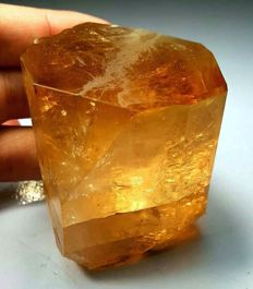 Terminated Damage Free Natural Topaz Crystal - 55 x 54 x 43 mm - 354 gm