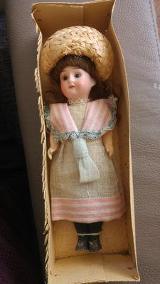 Antique Doll 1909 DEP R 14 A Wood Comp Body 7 1/2""
