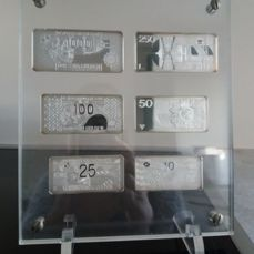 Netherlands - Banknote 10 to 1000 guilder in Plexiglas (6 pieces)