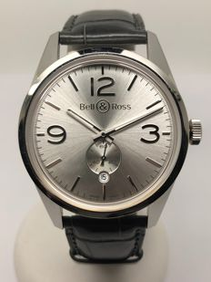 Bell & Ross - Officer Silver  - BR 123-95-SP-10696 - Heren - 2011-heden