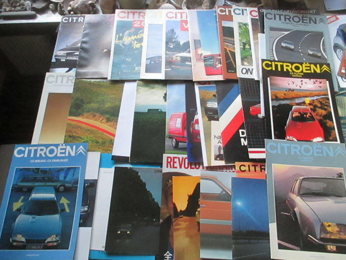 Car brochures (Citroën, 39x, 1972-1995)