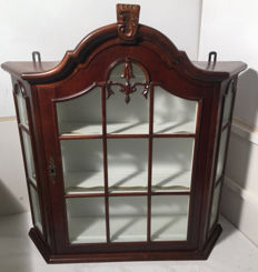 Beautiful hanging display cabinet, Netherlands, 20th century