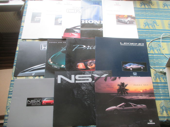 Car brochures (Honda sports models, NSX/CRX/Coupe/Type-R/Prelude/S2000, 12x, 1984-2001)