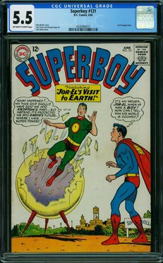 DC Comics - Superboy #121 - CGC Graded 5.5 - (1965)