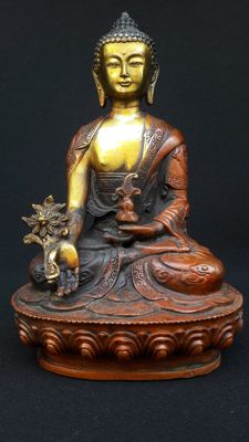 Bronze statue of Buddha - Nepal - 2nd half of the 20th century