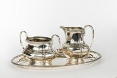 Silver cream set, Koch & Bergfeld, Germany, Bremen, 1st half 20th century