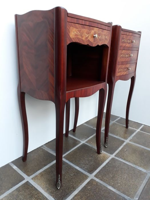 of de style pair Catawiki marquetry A inlaid Louis chevetFranceca1920 XV table XukwPZOiTl