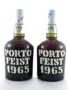 1965 Colheita Port - Feist - bottled in 1976 - 2 bottles