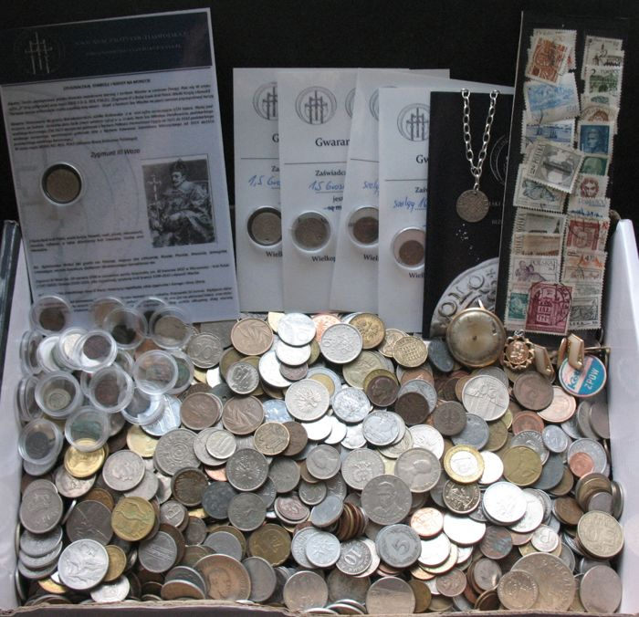 World - Lot of world coins (ca. 1500 coins) - including silver