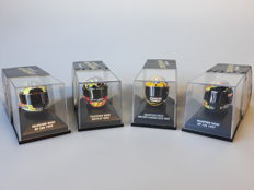 Minichamps - 1/8 scale - Lot with 4 miniature helmets Valentino Rossi