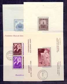 Belgium 1936/1941 - Collection of blocks - OBP BL5A through 21