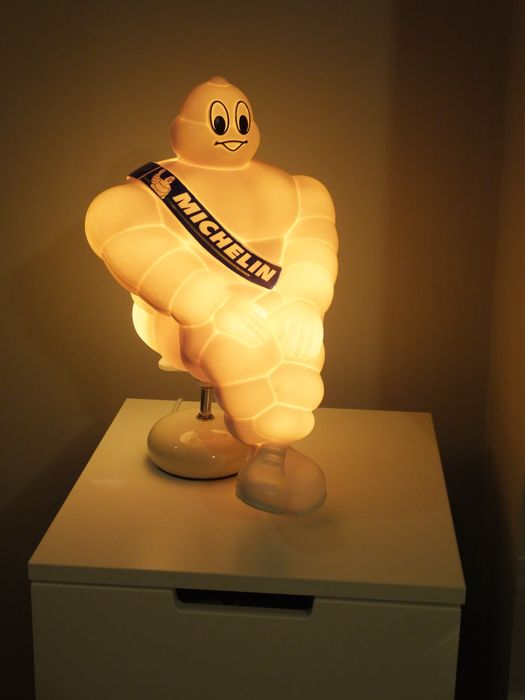 100% Genuine Rare 2003 Michelin Man Bibendum Repurposed into the Lamp MINT