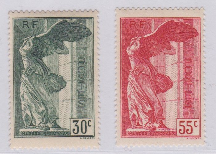 France 1937 - The Winged Victory of Samothrace (Louvre Museum) -Yvert 354 and 355