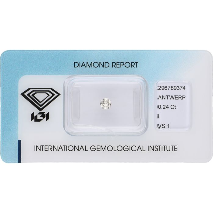 0.24 ct round brilliant cut diamond, I VS1