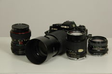 Minolta X-500 set with 4 lenses