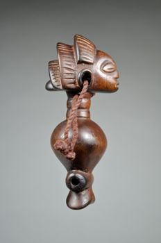 Superb figurative whistle - LUBA - Democratic Republic of Congo