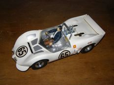Old toy Cox year 1966 Car Chaparral 2C circular thermic, scale 1/20th