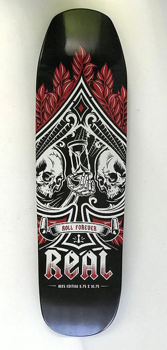 Skateboard deck (new old stock) - Roll Forever Aces Edition black colour