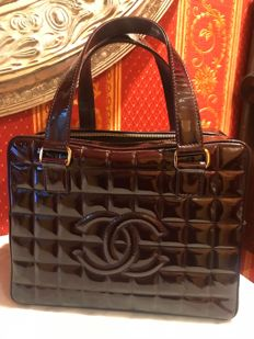 Chanel - Square Quilted Patent Leather CC Tote bag