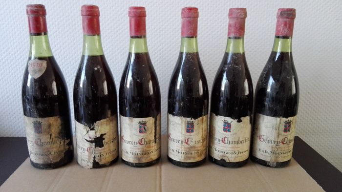 1970 Gevrey-Chambertin / Moingeon Freres, Beaune, France / 6 x 0,75 L Bottle