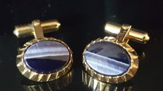 Christian Dior - Cufflinks with Lapis gemstone - Vintage