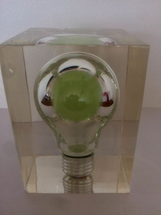 Lucite Light Bulb By Pierre Giraudon Other