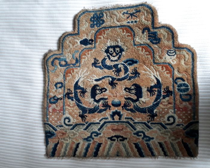 Ningxia dragon throne back carpet, China, 2nd half of the 19th c.