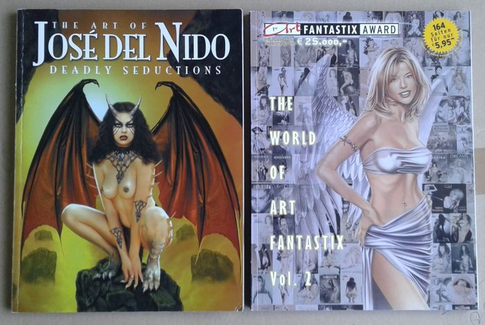 Fantasy Art; Lot with 2 Fantasy pin-up art books - 2004