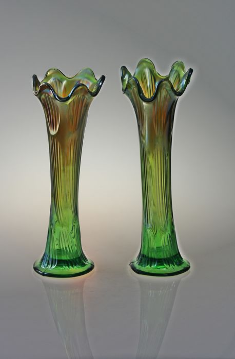 Fenton Couple Carnival Glass Vase Catawiki