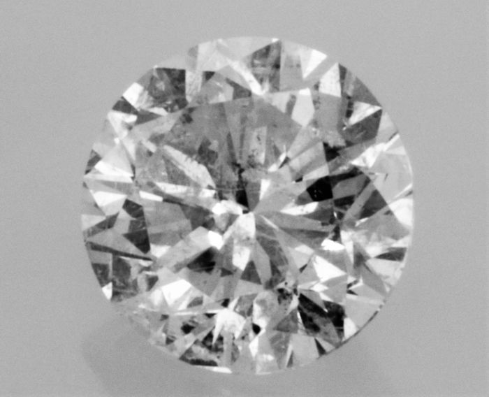 2.00 carat  - F color  - SI1 clarity  - 3 x EX - Round Brilliant Cut  -  Natural Diamond  - With AIG Big Certificate + Laser Inscription On Girdle