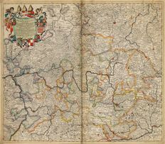 Germany, Switzerland; Homann / Danckerts / Schenk / Valck - 11 maps - 17th / 18th century