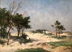 "Willem Cornelis Rip (1865 - 1922) - Summer in the Dunes - ""Zomer in 't Duin"""
