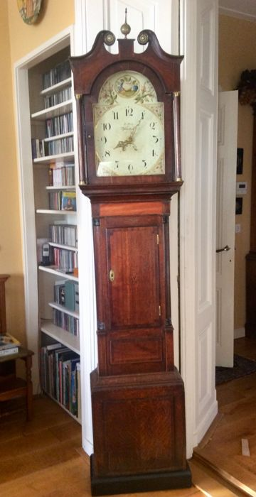 English longcase clock - Atherstone by J Parker - 1850