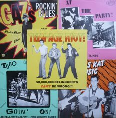 Obscure US 1950's Rock'n'Roll & Rockabilly - Lot of 10 Compilation albums (various labels 1976-1999) - various countries of press