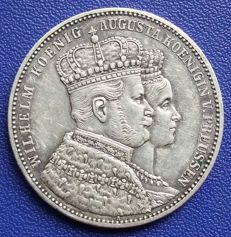 Old Germany, Prussia - coronation thaler 1861 - silver