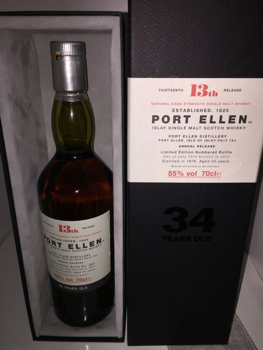 Port Ellen 1978 34 years aged 13th release - OB