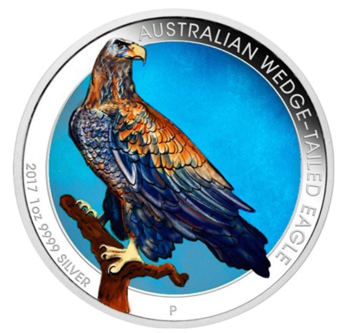 Australia - 1 Dollar 2017 Wedge-Tailed Eagle - 1 oz - Argento