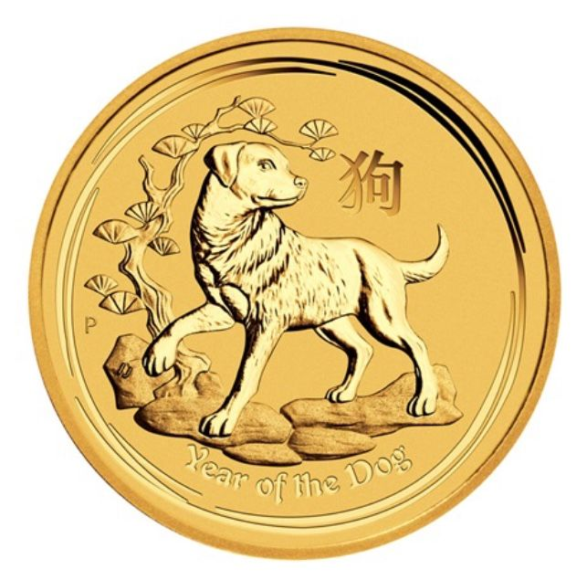 Australia - 15 Dollar 2018 Year of the Dog - 1/10 oz - Oro