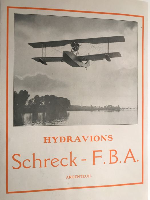 AMPHIBIOUS SEAPLANE Schleck 1923 - 1926, different models made in Argenteuil
