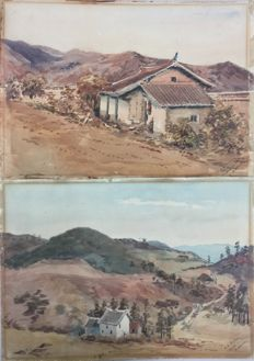 H E Bolton - Pair of western China scenes