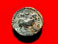 Roman Hispania - Castulo (Linares, Jaén), bronze semis (7,29 g. 22 mm.) minted around 180 - 150 B.C. VOC STF series.